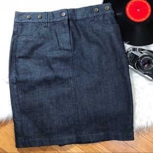 J.CREW Denim Skirt Size 6 Dark Wash NWT Classic❤️